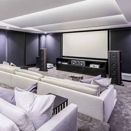White Turnkey Home Theatre System